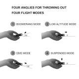 Mini filatore della mano di volo del boomerang del filatore di irrequietezza di volo del ronzio