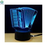 Buntes 3D LED Nachtlicht des Musikinstrument-