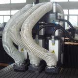Router di CNC della macchina di falegnameria delle tre Multi-Teste degli assi di rotazione