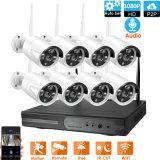 8CH 1080P H. 265+ Wirleess Smart домашней безопасности устройства записи IP-системы видеонаблюдения NVR Набор камеры