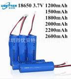 Original 18650 1500mAh Li-ion 3,7 V recharger la batterie pour torche Cigarette électronique