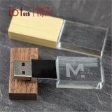 OEM van het LEIDENE van het Kristal USB van het Embleem Stok de Lichte Geheugen van de Flits USB