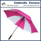 Fibra bianca del tessuto di seta naturale di colore rosa dell'ombrello di golf scaricata abitudine