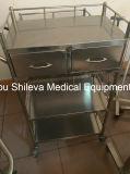病院の救急ステンレス鋼の医学のトロリー/処置の医学のカート