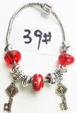 Armband Ref van de Charme DIY van vrouwen de Echte Zilveren Geplateerde Met de hand gemaakte: P 039