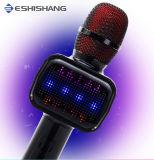 De nieuwe Draagbare Spreker van de Tand van de Karaoke van de Microfoon van de Conferentie Stereo Blauwe met LEIDENE Lichten