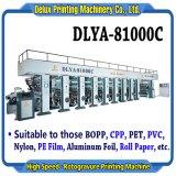 8 couleurs haute vitesse de l'emballage automatique informatisé Rotogravure (Rotary héliogravure) d'impression de la machine pour le cinéma, granuleuses papier, plastique, d'aluminium (DLYA-81000C)