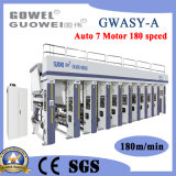 Gwasy-a 8 couleurs contrôlé par ordinateur l'héliogravure Machine avec 180m/min