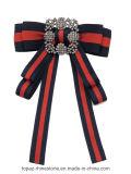 De recentste Broche van de Manier voor de Broche van het Bergkristal van de Verkoop voor Broche Bowknot van het Kostuum van Vrouwen de Rode en Groene (cb-01)