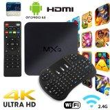 Nouveau Smart TV Box Mxq 4K Android TV Box plein chargé Media Player avec clavier sans fil, l'appui 4K, WiFi