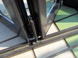 Finestra Bifold di alluminio personalizzata alta qualità con la vetratura doppia