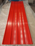 Gewölbte PPGI Stahlblech-heiße Verkaufs-Farben-überzogenes Metalldach