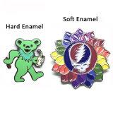 En gros les axes de Grateful Dead Enamel Badges personnalisés de l'épinglette de promotion de l'artisanat en métal