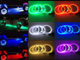 """Изменение цвета RGB управления Bluetooth 15,5"""" регулируемый светится индикатор колеса Ringsx4 комплект освещения Rim"""