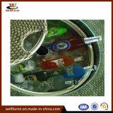 Tabella esterna della barra rattan/della mobilia con la benna di ghiaccio per birra fredda