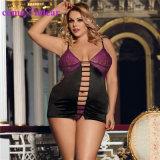 Plus la taille nuisette en satin de luxe Style Nighty sexy pour les femmes