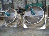 Misturador de inclinação elétrico do vapor do gás que cozinha chaleira Jacketed do equipamento