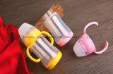 la alta botella de bebé del vidrio de Borosilicate 180ml con la cubierta protectora BPA libera