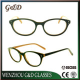 Stock de gros populaire acétate verres optiques Lunettes de lunettes de trame