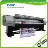 3.2m 8PCS Polaris 512 / 35pl de Inyección de Tinta Digital de Gran Formato de la Impresora Solvente