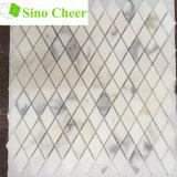 Polierdiamant-Form-weiße Marmormosaik-Fliese