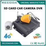 Full HD 1080P Mobile Car DVR en 4 canales con sensor G y 4G 3G GPS Recorder