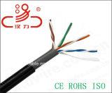 La jalea llenó 4 pares cable del audio del conector de cable de la comunicación de cable de datos del cable del cable/del ordenador de alambre de gota de UTP Cat5e 24AWG