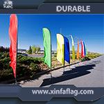 La publicité du drapeau de plage personnalisé par événements, indicateur volant de drapeau