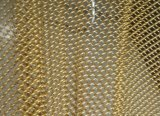 Malla de alambre decorativo de alambre de latón