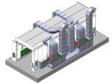 calor que pulveriza, cabine de 12m de pulverizador industrial de cozimento