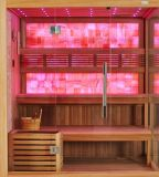 Prix de l'usine de luxe Nature Perdre du poids Loisirs Sauna à sec avec Jade jaune M-6048