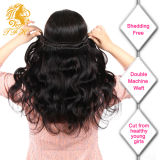 100% brasileño de la Virgen del pelo teje 10A Grado Virgen del pelo humano del pelo brasileño