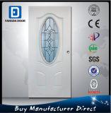 Porte en verre en acier extérieure de fer d'ornement
