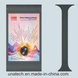 Casella chiara liberamente Backlit di pubblicità solare esterna Mupis di Scrolling LED della bandiera del basamento di Mupy