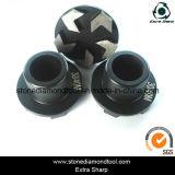 5 Pfeil-Segment-konkreter Metalldiamant-reibender Stecker
