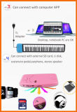 PC를 위한 USB 피아노 건반을 접히는 88의 키 유연한 실리콘