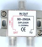 Diplexer TV+SAT TV: 5-862SAT: 950-2500 MHz