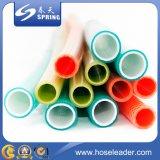 Mangueira de jardim de PVC trançada de fibra colorida