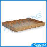 Bandeja de bambú laqueada respetuosa del medio ambiente de la porción