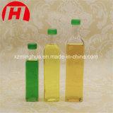 Frasco de vidro do óleo de vidro desobstruído do frasco de petróleo verde-oliva