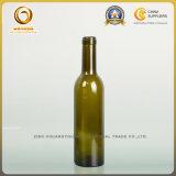 空のコルクの上375mlの緑および明確な赤ワインのガラスビン(026)