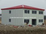 사무실로 이용되는 2개의 지면 조립식 가옥 또는 Prefabricated 건물
