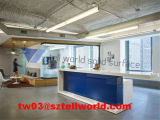 TW-runder Büro-Empfang-acrylsauerschreibtisch/moderner Konstruktionsbüro-Schreibtisch