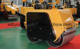 Alta calidad Recorrer-Detrás del rodillo vibratorio de la rueda de acero