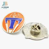 Pin promocional al por mayor del botón de la plata del metal del esmalte de la aleación del regalo