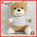 Teddybeer van het Stuk speelgoed van de Pluche van de T-shirt van de douane de Witte voor de Gift van de Bevordering