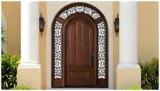 Porte en bois avec la porte en bois en verre/entrée avec le modèle classique