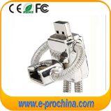 로봇 모양 소형 U8 금속 봄 USB 섬광 드라이브 (EM513)