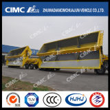Cimc Huajun 3axleの側面Tipping Train Trailer
