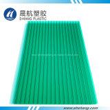 Strato verde popolare della cavità del policarbonato della Gemellare-Parete con il rivestimento UV